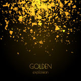 Abstract golden background with explosion Royalty Free Stock Photography