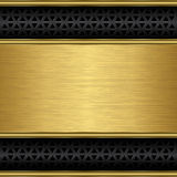 Abstract golden background with speaker grill Royalty Free Stock Photos