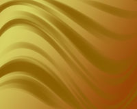 Abstract golden background with wavy lines and gradient Stock Images