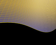 Abstract golden black background Royalty Free Stock Photos