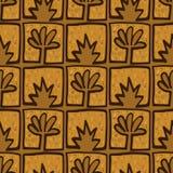 Abstract Golden blossoms. Seamless pattern background for carpet. Flowers vector illustration stock illustration