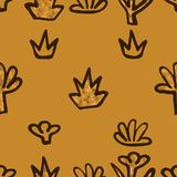 Abstract Golden blossoms. Seamless pattern background for curtains. Flowers vector illustration vector illustration
