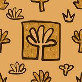 Abstract Golden blossoms. Seamless pattern background for napkin. Flowers vector illustration vector illustration