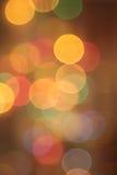 Abstract  golden blurred circular bokeh Royalty Free Stock Image