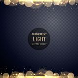 Abstract golden bokeh light effect with sparkles. Illustration vector illustration