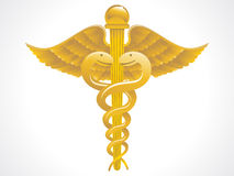 Abstract golden caduceus sign Royalty Free Stock Photography