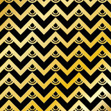 Abstract Golden Chevron Pattern Background Stock Image