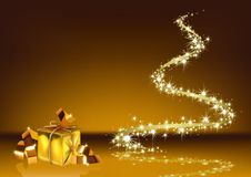 Abstract Golden Christmas Stock Image