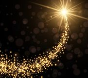 Abstract golden Christmas background. Vector illustration Stock Images