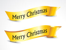 Abstract golden christmas ribbons Royalty Free Stock Photo