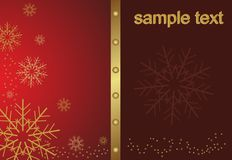 Abstract golden christmas snowflake Stock Photos