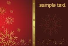 Abstract golden christmas snowflake Stock Photos