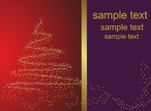 Abstract golden christmas tree Royalty Free Stock Photography