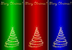 Abstract golden christmas tree Stock Photo