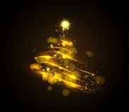 Abstract golden christmas tree Royalty Free Stock Photos