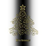 Abstract golden Christmas tree Royalty Free Stock Photos