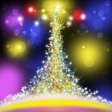 Abstract golden christmas tree Royalty Free Stock Photo