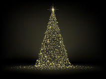 Abstract golden christmas tree. EPS 8 Royalty Free Stock Images