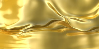 Abstract golden cloth background. Fantasy liquid material Stock Image