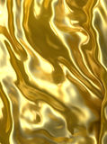 Abstract golden cloth background or texture. 3d illustration Royalty Free Stock Image
