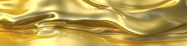 Abstract  golden cloth or liquid metal background. Stock Images