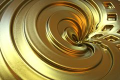 Abstract golden color background. Stock Image