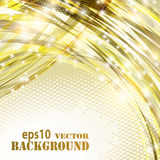 Abstract golden curves background Royalty Free Stock Image
