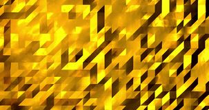Abstract golden 3D geometric pattern. Mosaic metall background. New year texture. 3D animation loop 4k