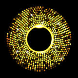 Abstract golden dots on black background Royalty Free Stock Photos