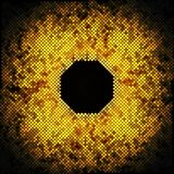 Abstract golden dots on black background vector Royalty Free Stock Photography