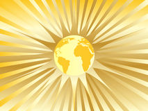 Abstract golden earth. Vector illustration Royalty Free Stock Photos