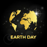 Abstract golden earth day globe Stock Images