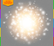 Abstract golden explosion with white sparks modern design Stock Image