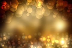 Abstract golden festive bokeh background with glitter sparkle bl stock illustration