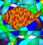 Abstract golden fish Stock Photo