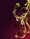 Abstract golden floral background Royalty Free Stock Photography