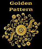 Abstract Golden Floral Pattern Royalty Free Stock Photos