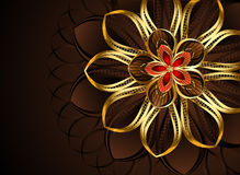 Abstract golden flower Stock Image