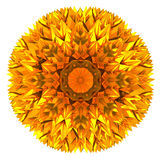 Abstract golden flower 3d Royalty Free Stock Photo