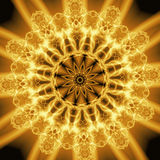 Abstract Golden Forms. Pattern, coming from a fractal design Royalty Free Illustration