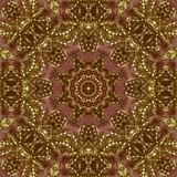 Abstract Golden Forms Pattern. Coming from a fractal design,kaleidoscope Photo technique stock photography