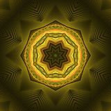 Abstract golden fractal design. With decorative pattern Royalty Free Stock Photos