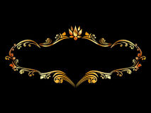 Abstract golden frame Royalty Free Stock Images