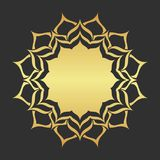 Abstract golden frame. Luxury gold ornamental element vector illustration