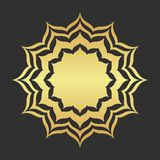 Abstract golden frame. Luxury gold ornamental element stock illustration