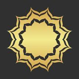 Abstract golden frame. Luxury gold ornamental element royalty free illustration