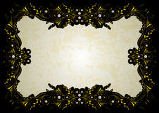 Abstract golden frame with pearls Royalty Free Stock Photo