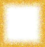 Abstract Golden Frame with Sparkles on White Background Royalty Free Stock Photo