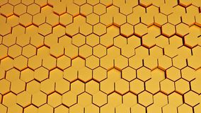 Hexagon pattern 3d rendering Royalty Free Stock Photo