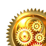 Abstract Golden Gear Background Stock Photography